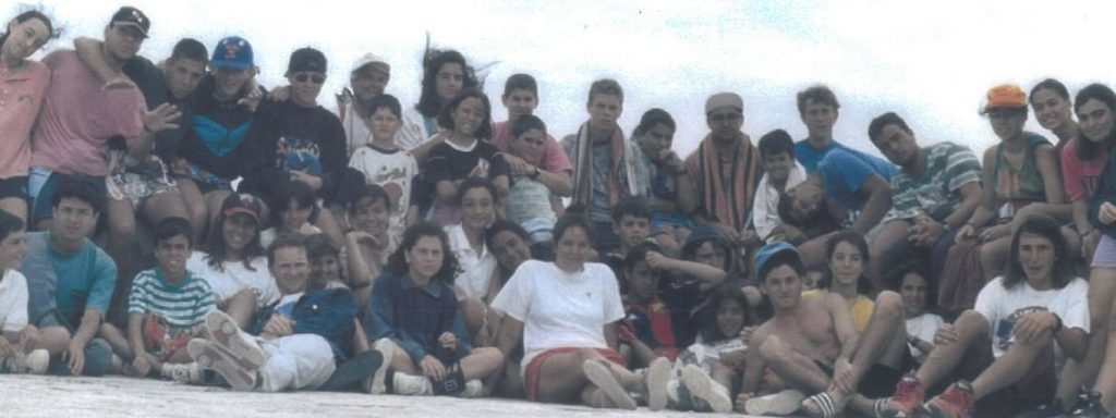 "Grupo Scout ""Alcorac"" durante un campamento de verano"