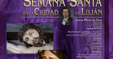 La Semana Santa en la Ciudad de Luján Pérez lucirá en todo su esplendor