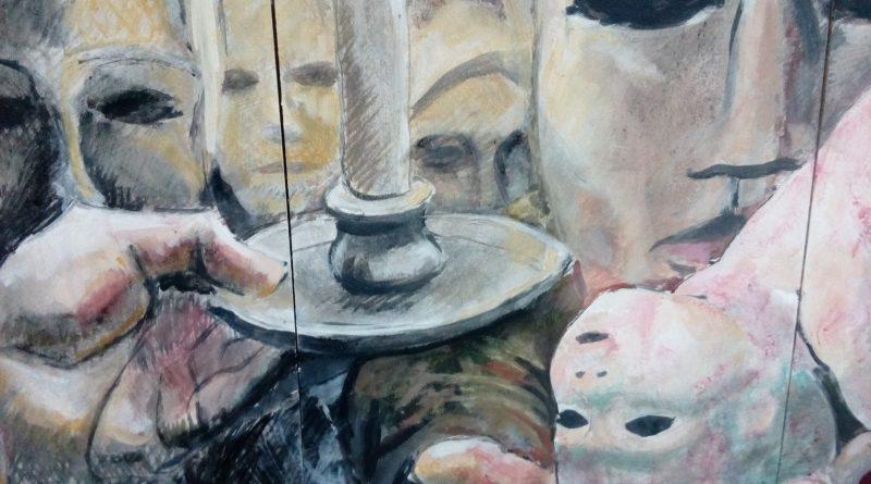 El concepto de maternidad en la obra de Jane Millares inspira sesenta obras creadas por estudiantes de pintura