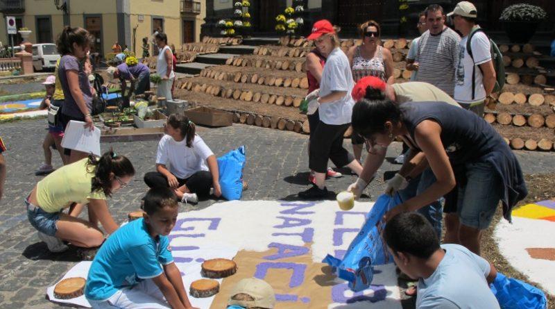 Este domingo son las alfombras del Corpus Christi en el casco histórico de Guía