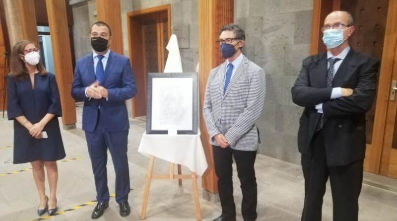 Inaugurada la exposición de Geño Aguiar en el 495 aniversario de la fundación de Guía de Gran Canaria